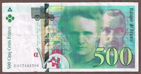 "France ""Marie & Pierre Curie"" (1994) HI-$$ 500-Francs {SINGLE} VF/VF Note: P160a"