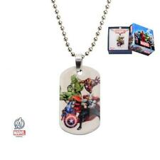 Marvel Avengers Kids Dog Tag Stainless Steel Pendant with Chain