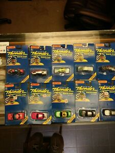 Lot Of 10 1990 Matchbox Days of Thunder 1/64 diecast cars. 2 different sets