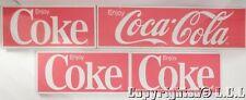 "Vintage Lot of 4 Coca Cola signs (1)36"" x 10 (3)22"" x 10"" Enjoy Coke Metal"