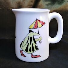 More details for milk jug in white fine bone china with 'lootha' a strange character