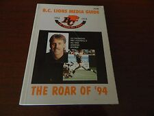 1994 BC Lions media guide /fact book '40th Anniversary' EX condition CFL book