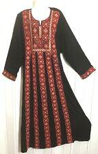 JUMBO PLUS sz EMBROIDER Thobe caftan dress GOWN abaya Palestinian bedouin JORDAN