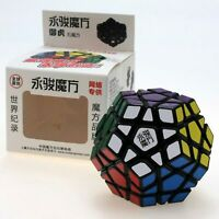 YJ MoYu YuHu Megaminx Magic Cube Twist Puzzle - Black