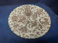 Vintage 1970's Johnson Brothers BROWN PAISLEY Individual Dinner Plates Retired
