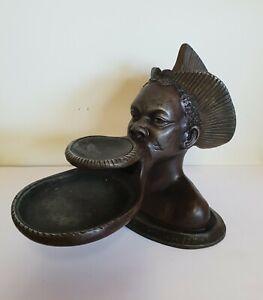 statue ancienne en régule de M LEDUCQ exposition coloniale paris 1931