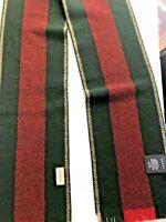 Gucci Accessory Scarf SU Navas Red/Navy Lana Wool Fringe Scarf 20x180 cm, Italy
