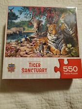Master Pieces Tiger Sanctuary by Steve Read 550 Piece Jigsaw Puzzle Complete