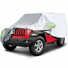 Car Cover For Jeep Wrangler Jl Cj Yj Tj Jk 190t High Density Fabric Waterproof Fits Jeep
