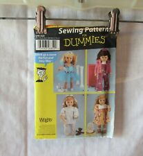 """SIMPLICITY SEWING FOR DUMMIES  18"""" DOLL DRESS BALLET PAJAMAS  PATTERN  #5670"""
