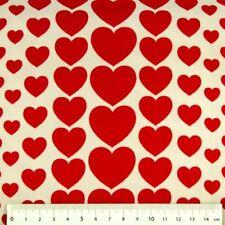 cosmo Stoff Herzen Baumwollstoff Herzen rot auf weiß Japan patchwork nähen quilt