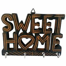 New Handmade Wooden Key Hanger for Wall Sweet Home Decor Free Shipping
