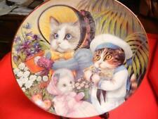 "Danbury Mint Collector Plate Ltd Edt CofA Fanciful Felines ""Flora's Flower Shop"""