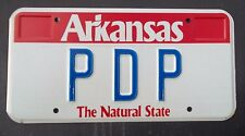 "ARKANSAS VANITY LICENSE PLATE "" PDP "" PETE PAT PAUL PETERSON PETERS POWELL PAGE"