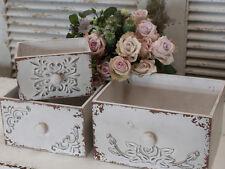Chic Antique 3er Set Franz Boxen Holz Aufbewahrung Regal vintage und shabby