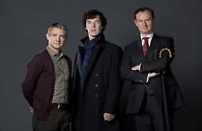 "BBC SHERLOCK UK Imported 17"" X 11"" Poster Print - Holmes, Watson, and Mycroft"