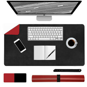 Dual-Sided Desk Pad Mat PU Leather Waterproof Desk Cover Protector Non-Slip