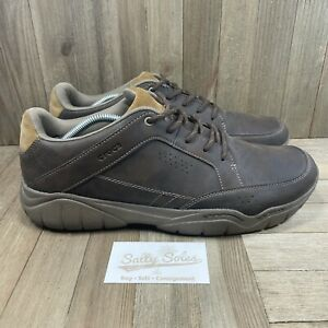 Croc Swiftwater Hiker Shoes Leather Sneakers (203392) Brown Mens Size 13