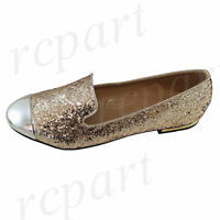 New women's shoes rhinestones ballet flats blink blink wedding casual Gold