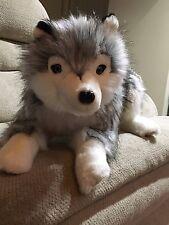 Ditz Designs Siberian Husky Stuffed Plush Animal Lap Dog Hug Lovable,Top Quality