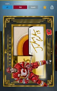 Johnny Gaudreau Auto patch Topps Skate Digital