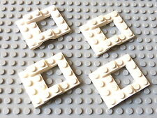 Lot de 4 châssis de véhicule 4x5 blancs / white vehicle bases, LEGO, #4211