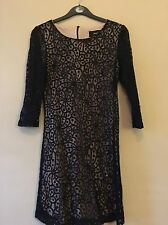 Mango Black Lace Dress Size S