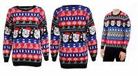 mens ladies knitted novelty Christmas Santa father Xmas snowman penguin jumper