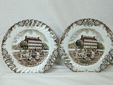 Johnson Brothers Heritage Hall plates 10 inch lot of two- Georgian Town House