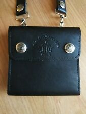 Harley-Davidson Wallet Clutch Willie G Star Skull Leather Zipper Snap womens