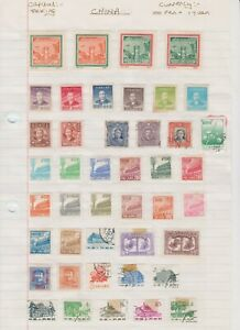 2148 China 2 sides album page 73 stamps mixed condition