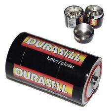 2 lots Large Grinder Herb Spice Tobacco 3 PCS Crusher Metal Smoke Battery Herbal