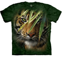 Tiger Emerald Forest King Vintage Tigers Mountain Animal Green T-Shirt M-XL