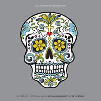 Day Of The Dead - Calavera - Sugar Skull - Flower - Decal/Sticker - SKU1124