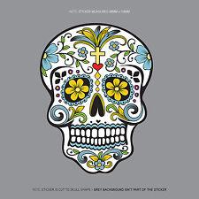SKU1124 - Day Of The Dead - Calavera - Sugar Skull - Flower - Decal/Sticker