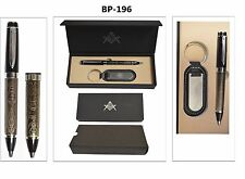 Masonic Pen With Key Chain in a Gift Box (BP-196)