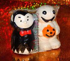 VAMPIRE MUMMY SALT & PEPPER SHAKERS Halloween dracula cute undead horror ghoul