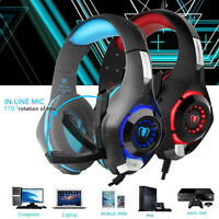 Headset For Laptop Cell Phone Xbox One PS4 PC Earphone Gaming Headband With Mic