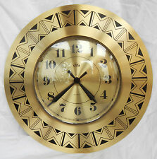 Vintage Retro Smiths Timecal Bronze Coloured Wall Clock - 1970s