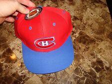 MONTREAL CANADIANS  LOGO 7    RARE  90'S HAT CAP VINTAGE SNAPBACK
