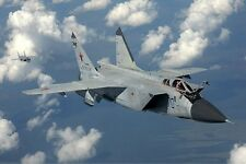 MiG-31 Firefox Mikoyan Fighter Mig 31 Airplane Handcrafted Wood Model Large New