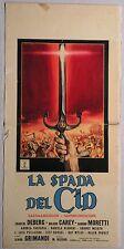 Locandina LA SPADA DEL CID 1962 SANDRO MORETTI ROLAND CAREY CHANTAL DEBERG