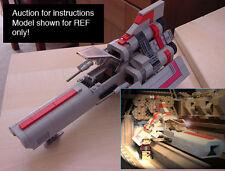 CUSTOM Battlestar Galactica Classic Viper (mark 1) (Lego Instructions Only!)
