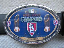 St. Louis Cardinals 2011 World Series Championship  Buckle & black Belt. NEW