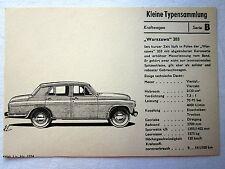 """DDR Kleine Typensammlung Kraftwagen """"WARSZAWA"""" 203"""