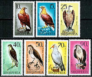 Albania 1966  Sc998-1004  Mi1124-30  7v mnh  Birds