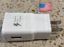 Works with iPhone Samsung & All USB Power Adapter AC Home Wall Charger US Plug