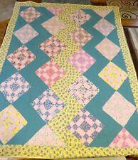 "New USA Handmade Full Size Quilt- Zigzag Diamonds Patchwork -  73"" x 92"""