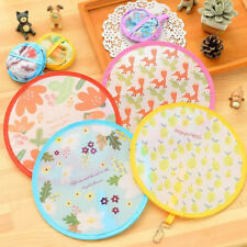 Japanese Style Folding Hand Fan Foldable Handheld Round Fans Flowers Floral