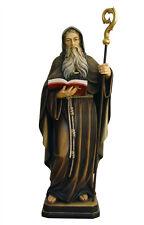 Statua San Benedetto cm. 30 - In legno scolpita a mano